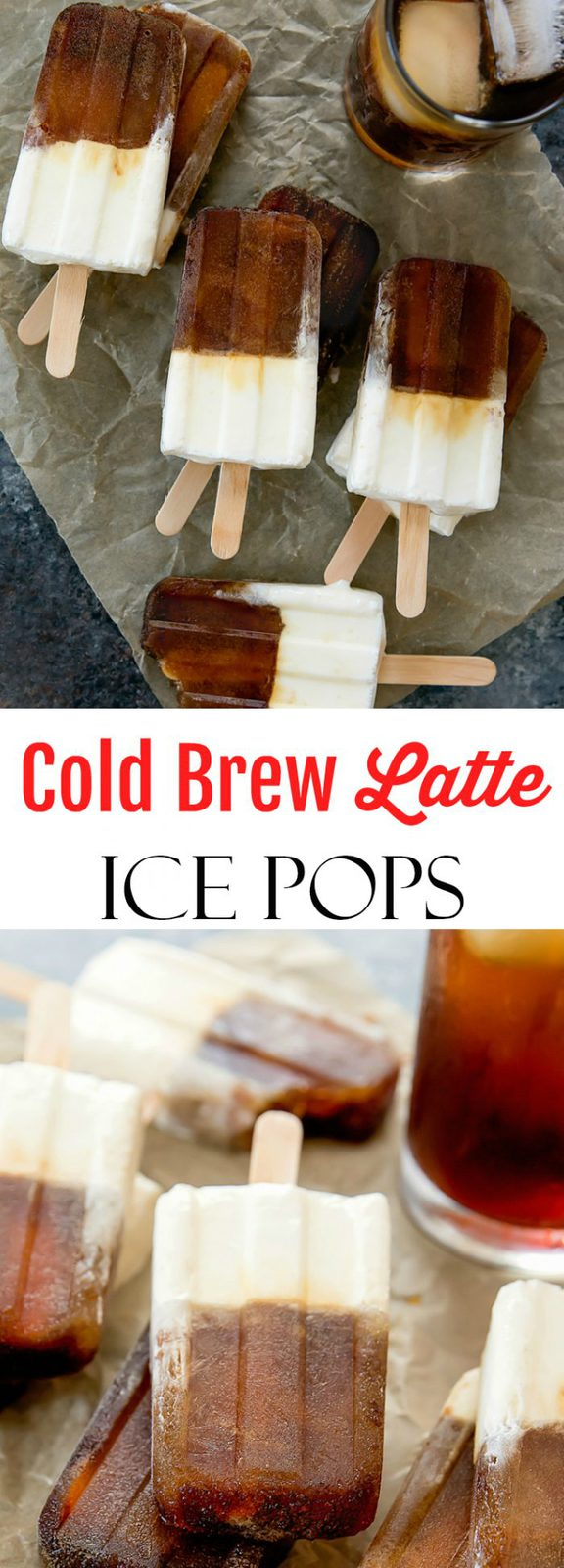 Cold Brew Coffee Latte Popsicles