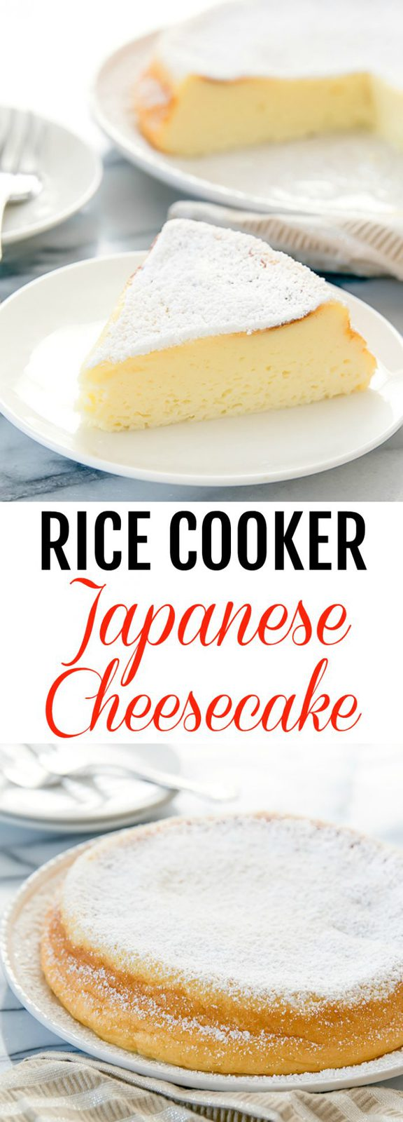 Rice Cooker Japanese Style Cheesecake