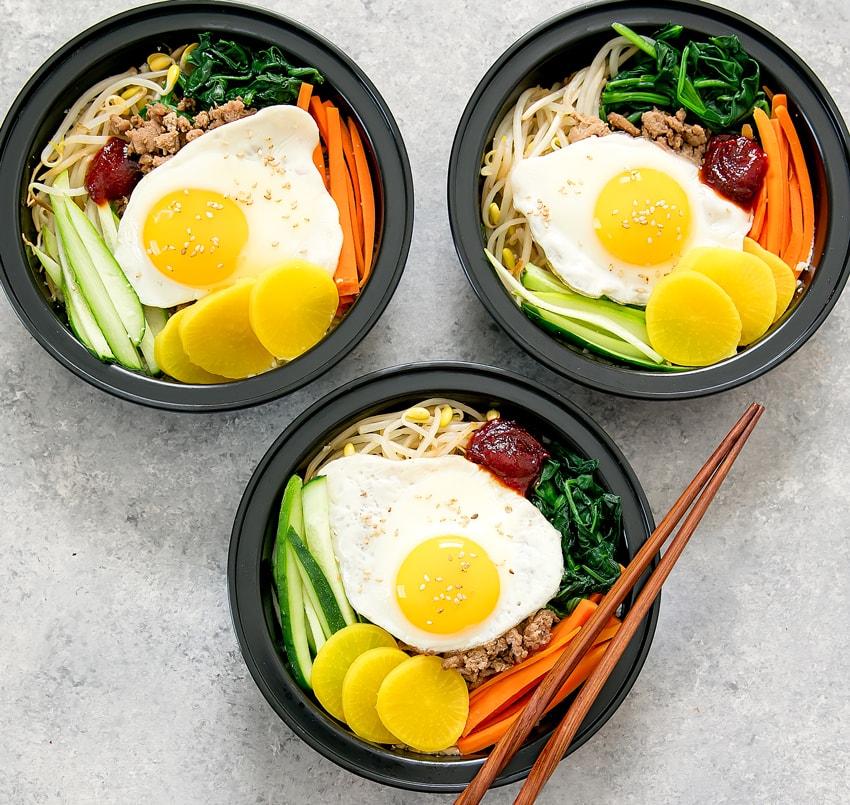 Korean Bibimbap Cauliflower Rice Bowls Meal Prep Kirbie S Cravings