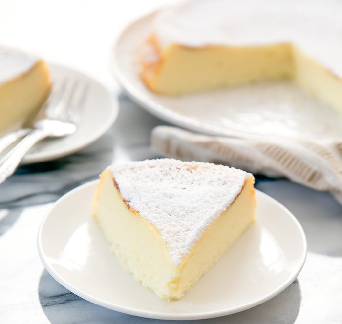 close-up photo of Japanese Cheesecake
