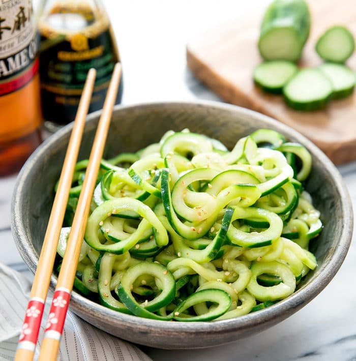 photo of Sesame Cucumber Noodles