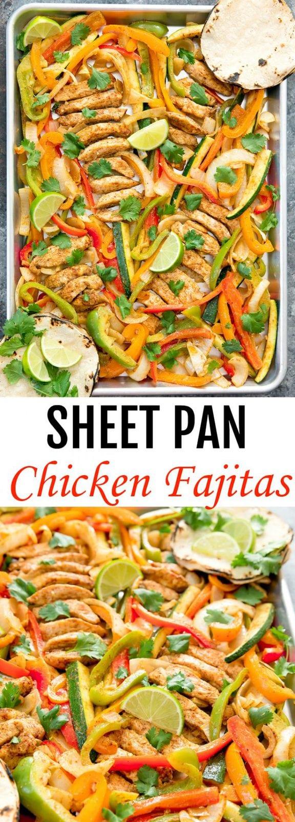 Sheet Pan Chicken Fajitas - Kirbie's Cravings
