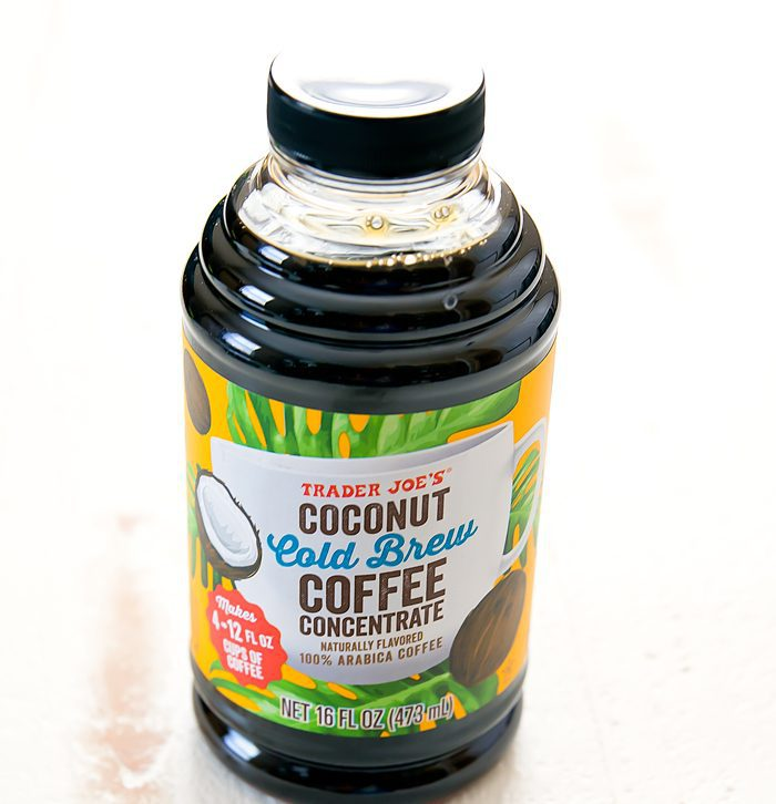 photo of a bottle of Coconut Cold Brew Concentrate