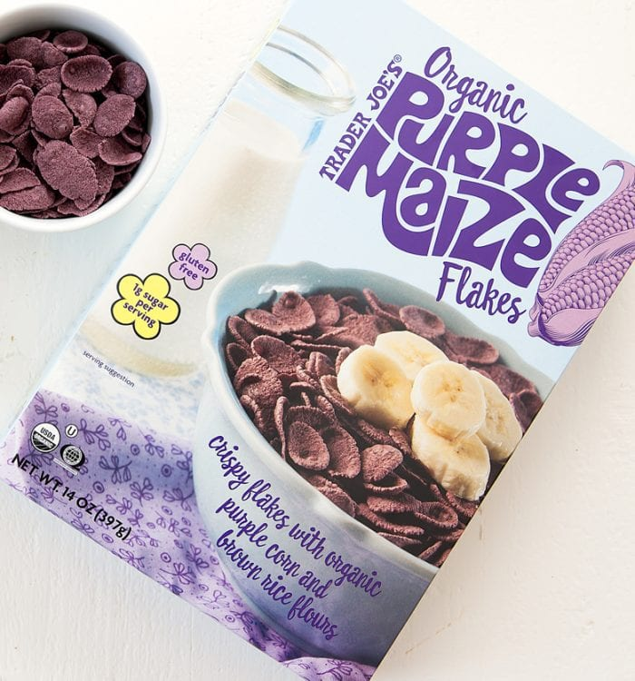 photo of the package of Organic Purple Maize Flakes