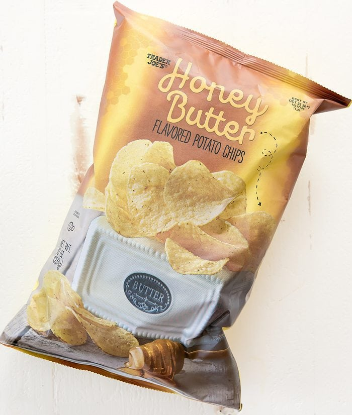 photo of a bag of Honey Butter Flavored Potato Chips