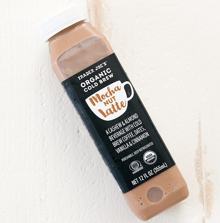 photo of a bottle of Organic Cold Brew Mocha Nut Latte