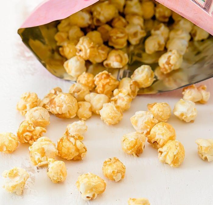 close-up photo of Caramel Ginger Popcorn