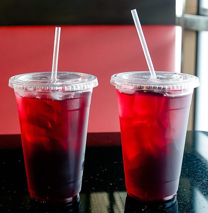 photo of two flowering tea drinks