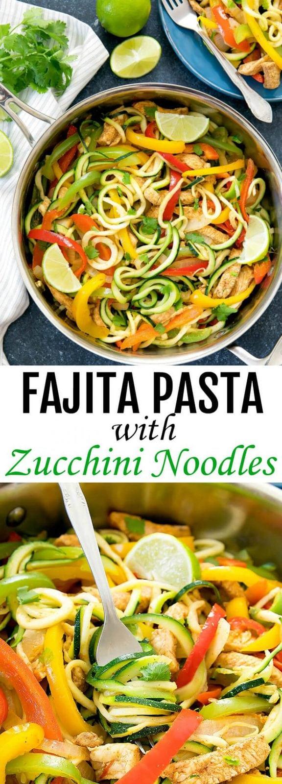 Fajita Pasta with Zucchini Noodles