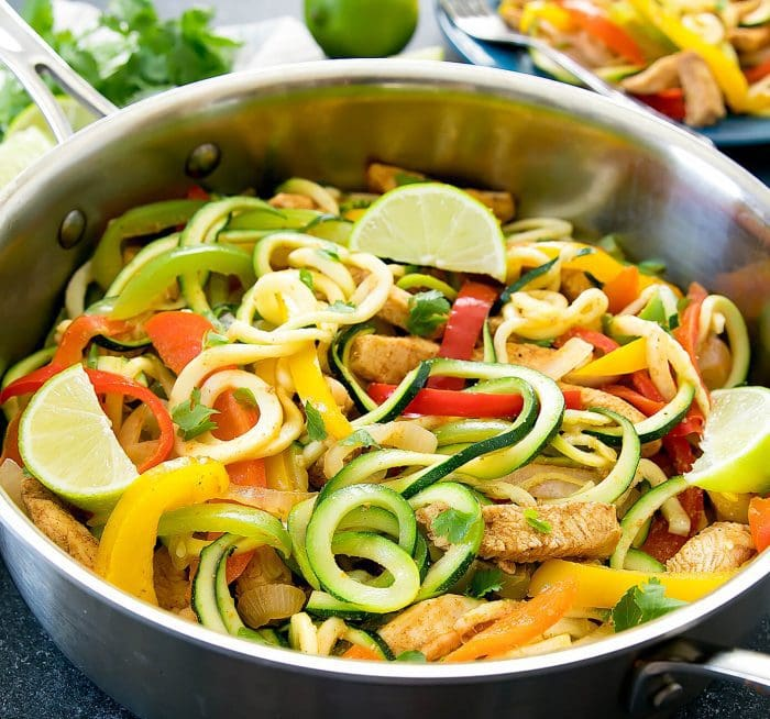 photo of One Pot Fajita Pasta with Zucchini Noodles