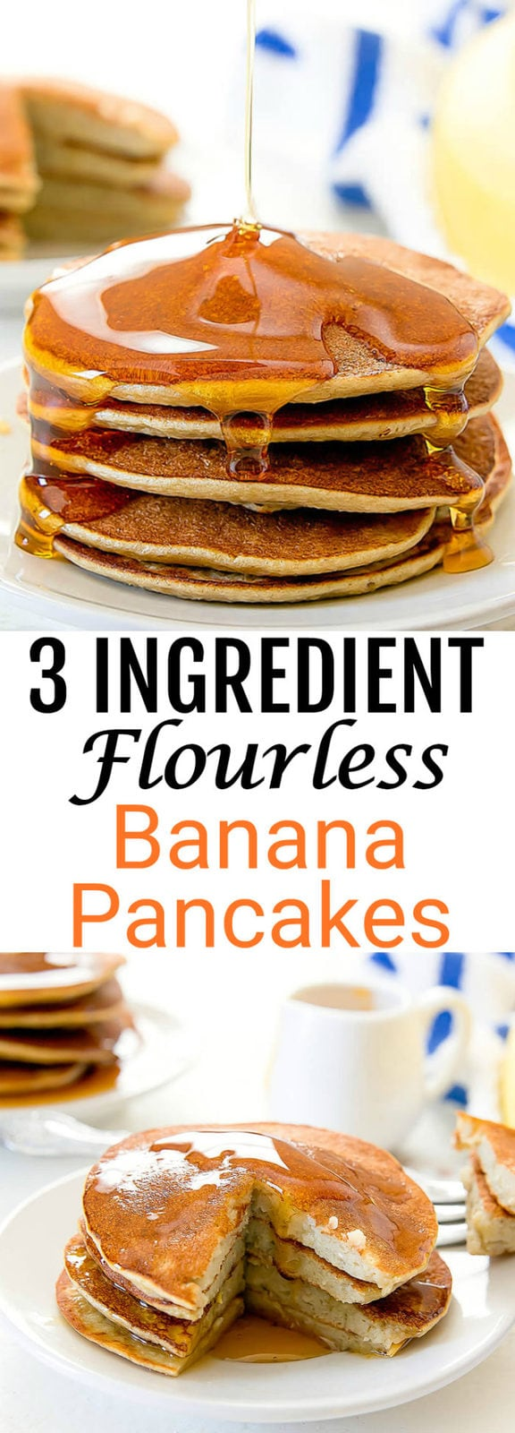 3 Ingredient Flourless Banana Pancakes