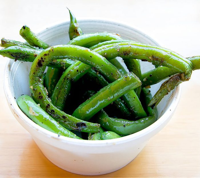 photo of garlic beans side dish