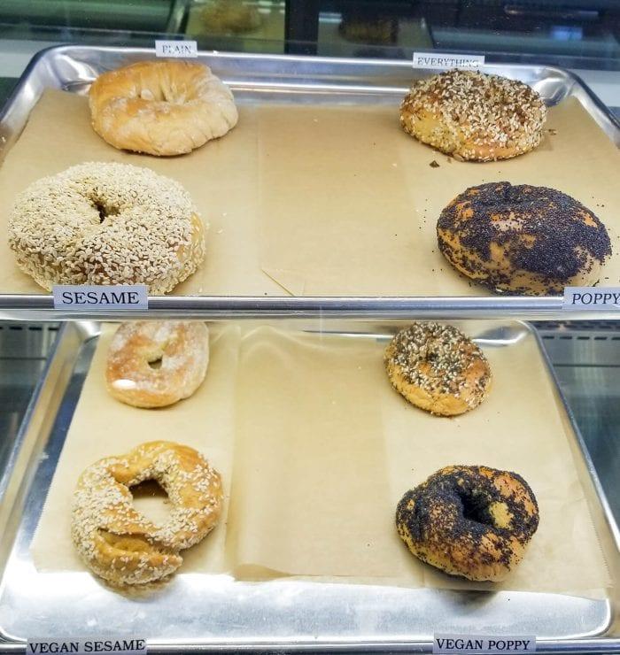 photo of bagel display