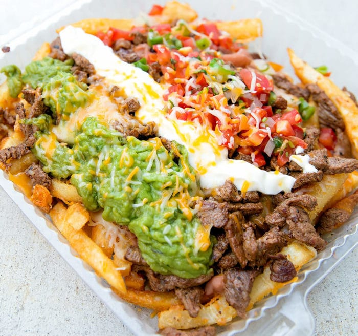 overhead photo of Carne Asada Fries
