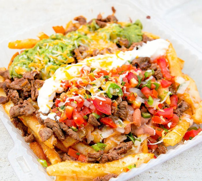 photo of carne asada fries served at Porkyland