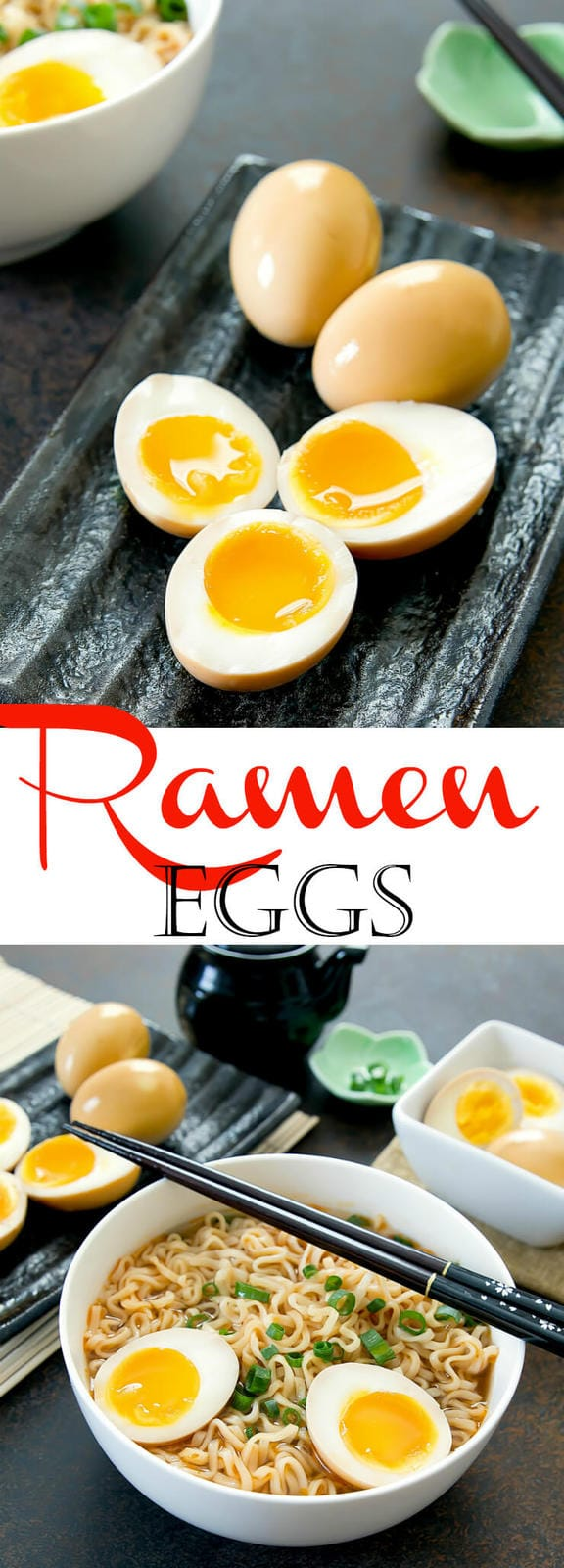 Japanese marinated soft boiled eggs (Ajitsuke Tamago) are easy to make at home to eat with your ramen!