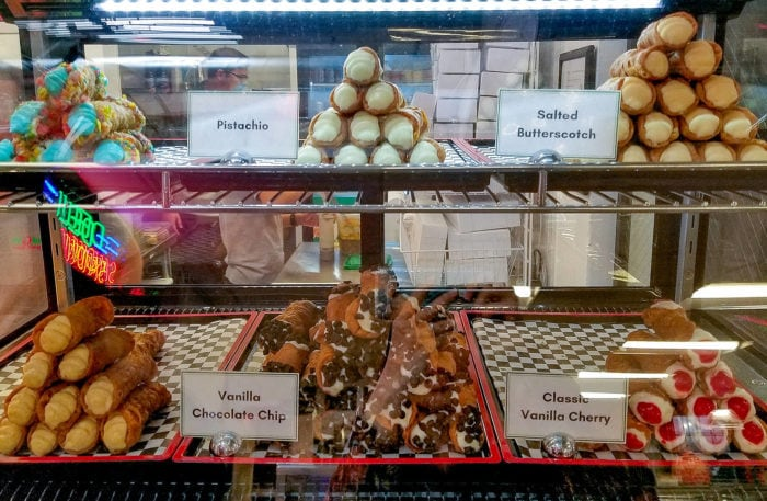 photo of the desserts display