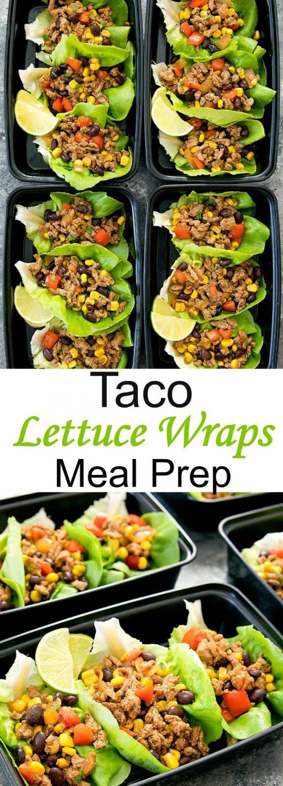 Taco Lettuce Wraps Meal Prep
