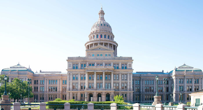 photo of the state capital building in Austin, TX
