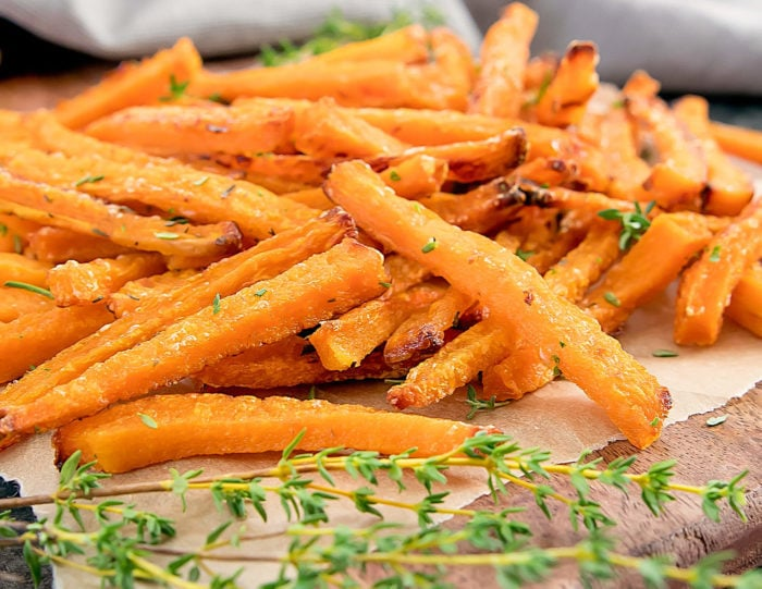 close-up of Butternut Squash Fries