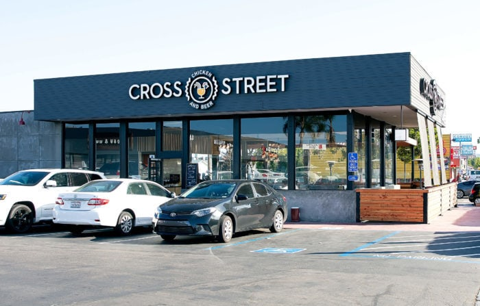 photo of the outside of Cross Street Chicken and Beer