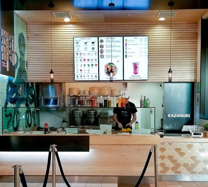 photo of the inside of Kazanori Poke & Wraps