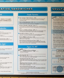 photo of the menu at Mendocino Farms