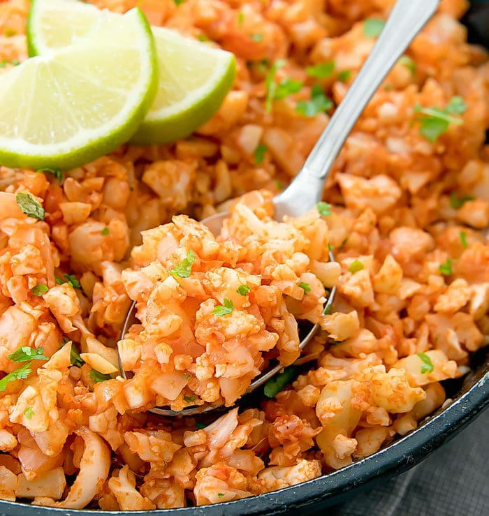 close-up photo of Mexican Cauliflower Rice