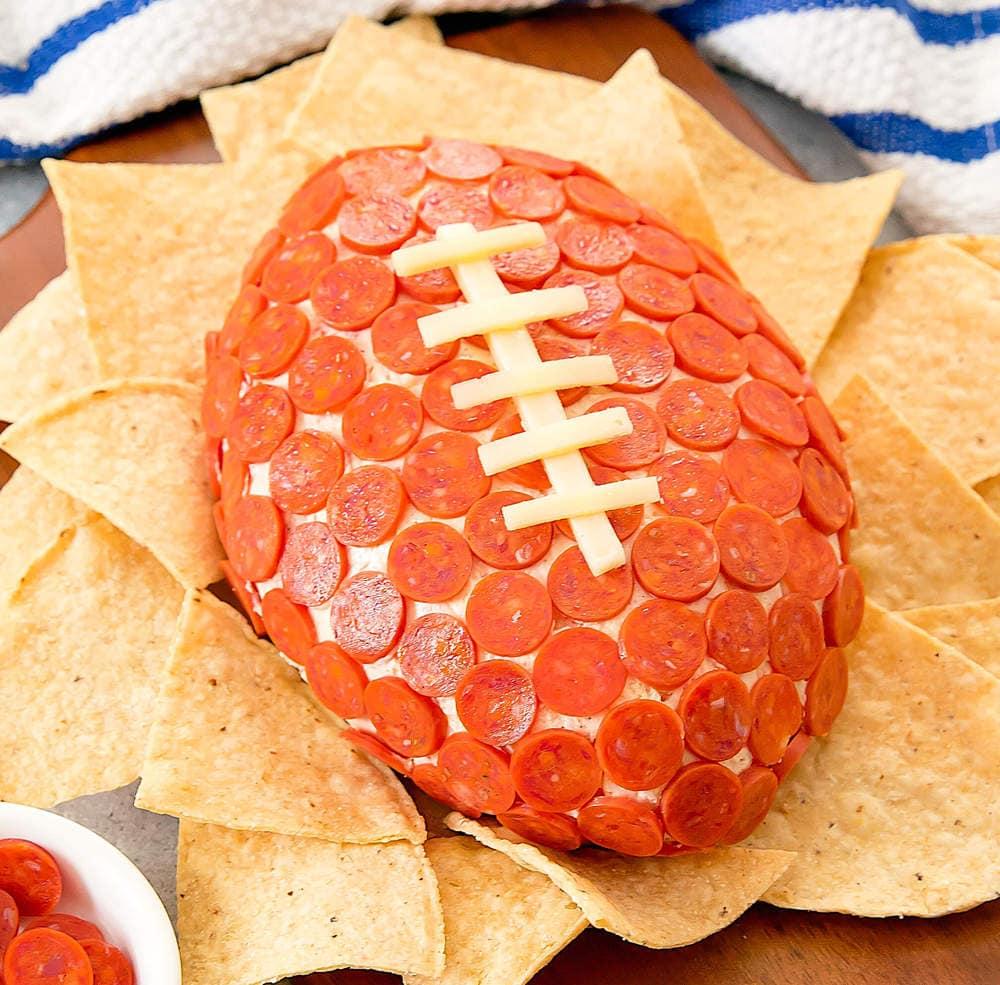 Pepperoni Pizza Cheese Ball Kirbie S Cravings
