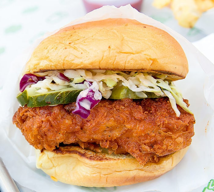 photo of Hot Chick'n sandwich