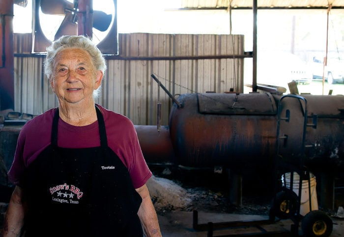 photo of pitmaster Tootsie at Snow's BBQ