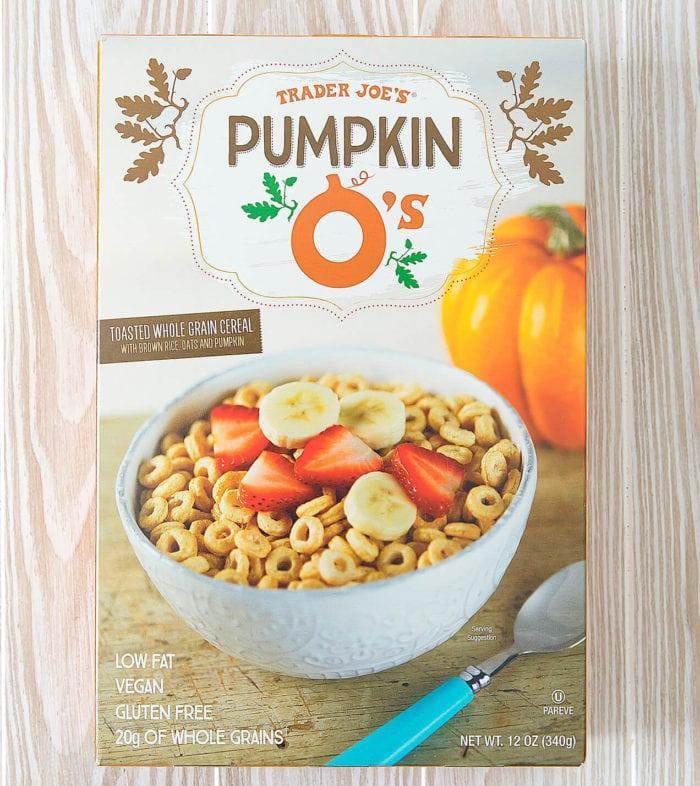 photo of a box of Trader Joe's Pumpkin O's