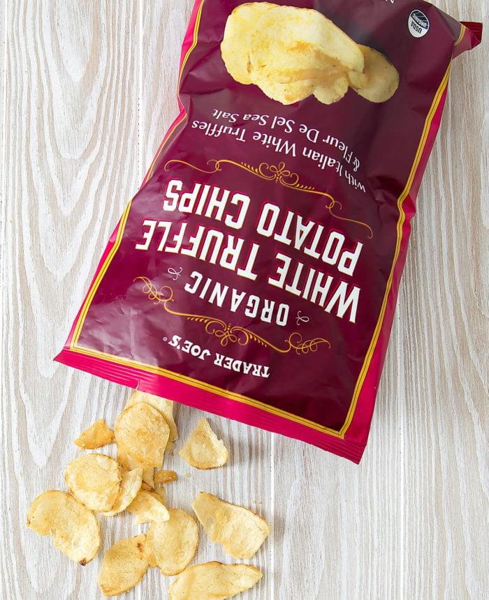 overhead photo of Organic White Truffle Potato Chips