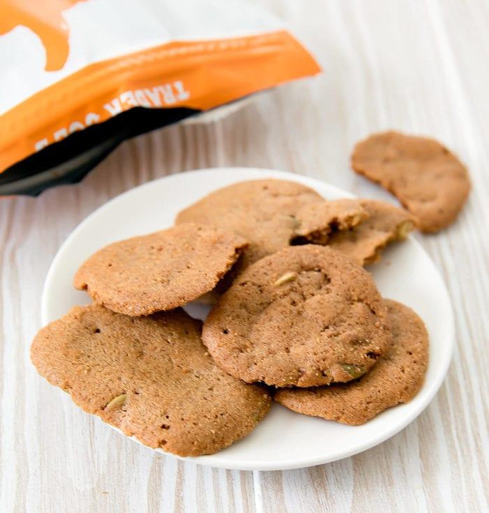 close-up photo of Pumpkin & Roasted Pepitas Cookies