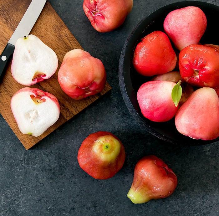 overhead photo of wax apples