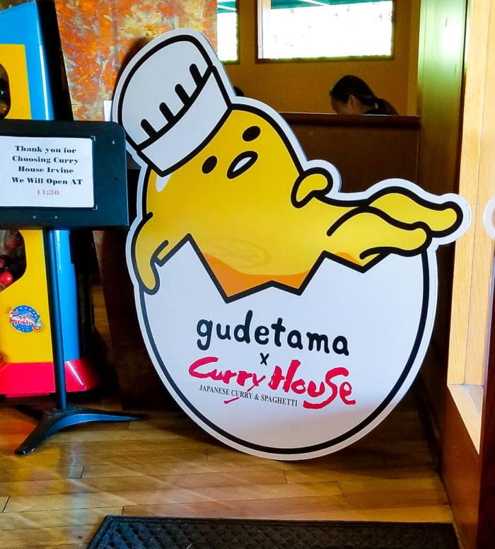 photo of the decor inside Gudetama x Curry House