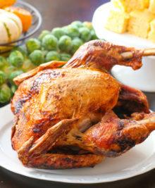 photo of a deep fried turkey