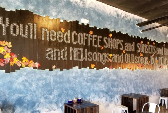 photo of the decor inside The Forum Coffee House