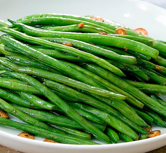 close-up photo of Garlic Green Beans
