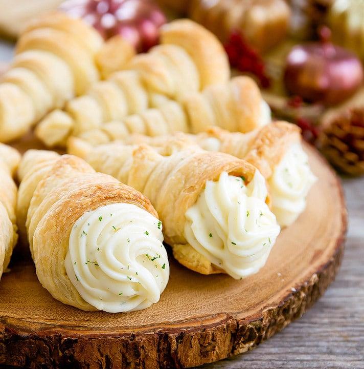 photo of mashed potato cones