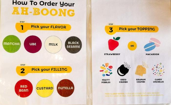 photo of signage explaining how to order