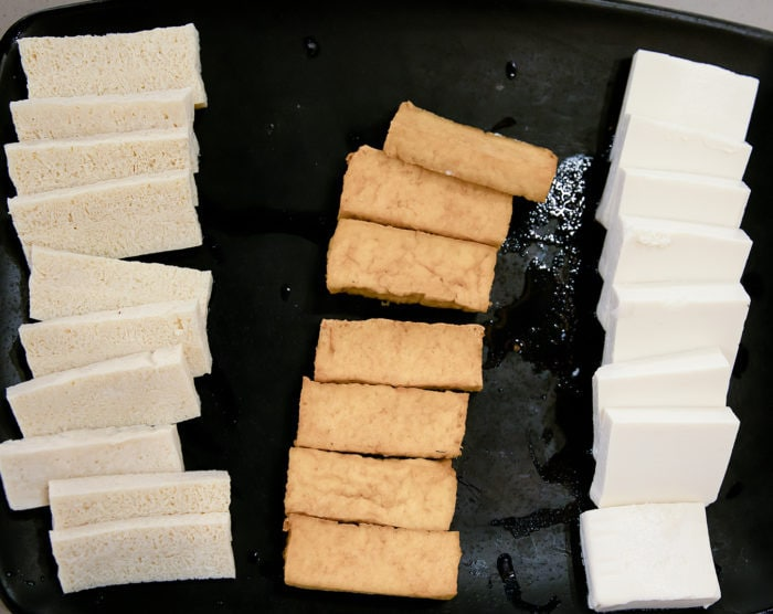 overhead photo of Tofu Combo Platter