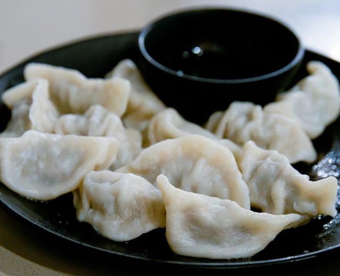 close-up photo of dumplings