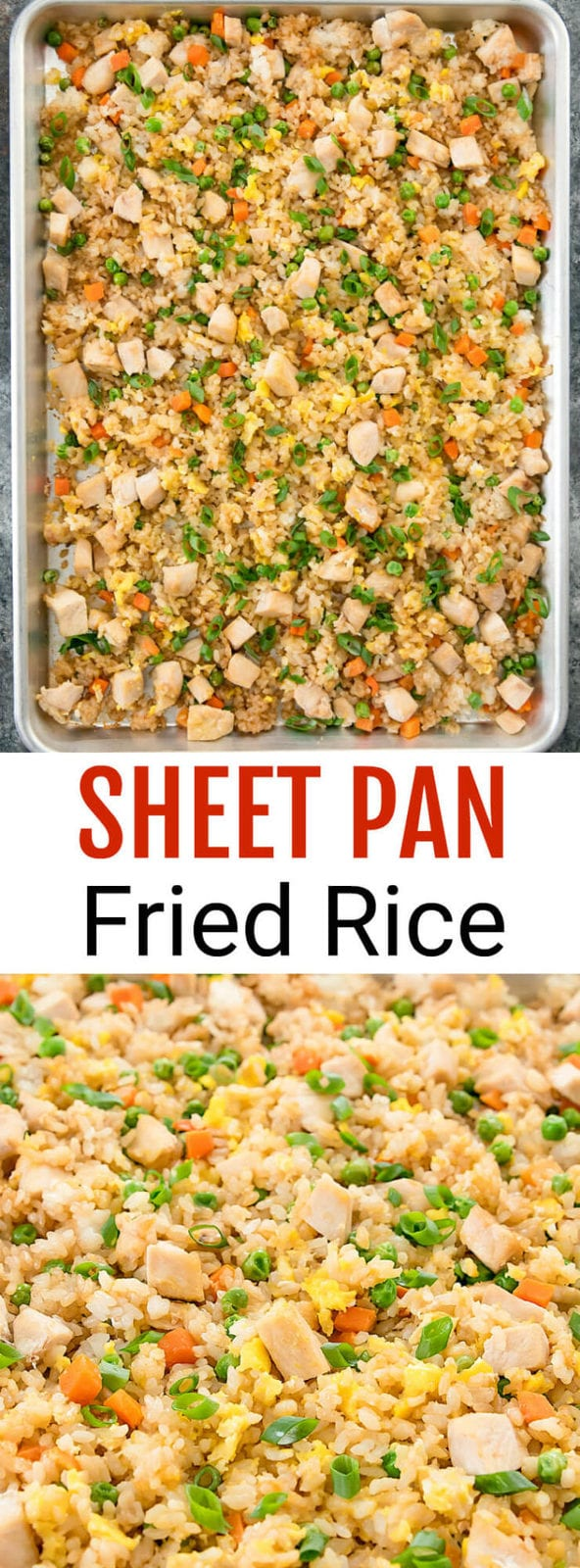 Sheet Pan Fried Rice