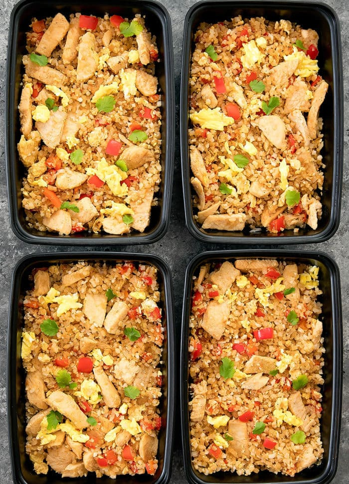 Thai Cauliflower Fried Rice Meal Prep