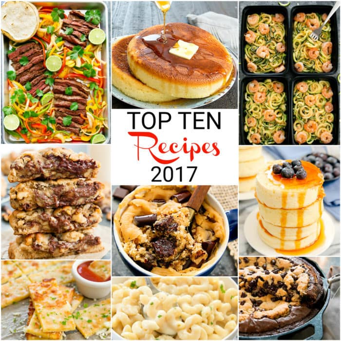 photo collage of Top Ten Recipes 2017