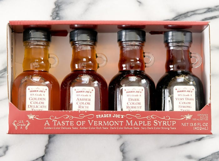 photo of a package of A Taste of Vermont Maple Syrup Gift Set