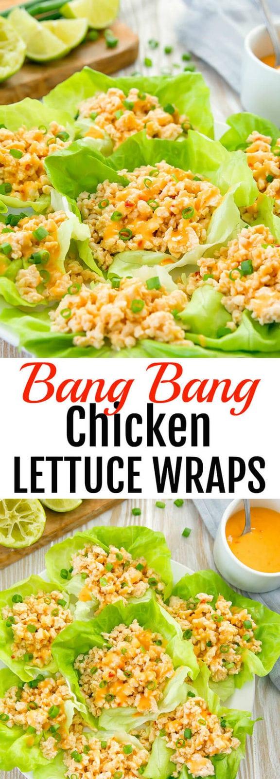 Bang Bang Chicken Lettuce Wraps