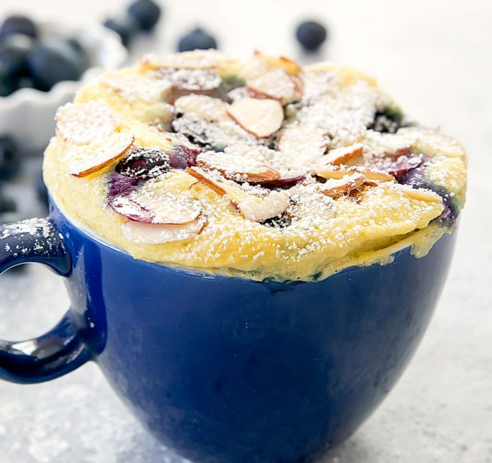 close-up photo of Blueberry Almond Mug Cake