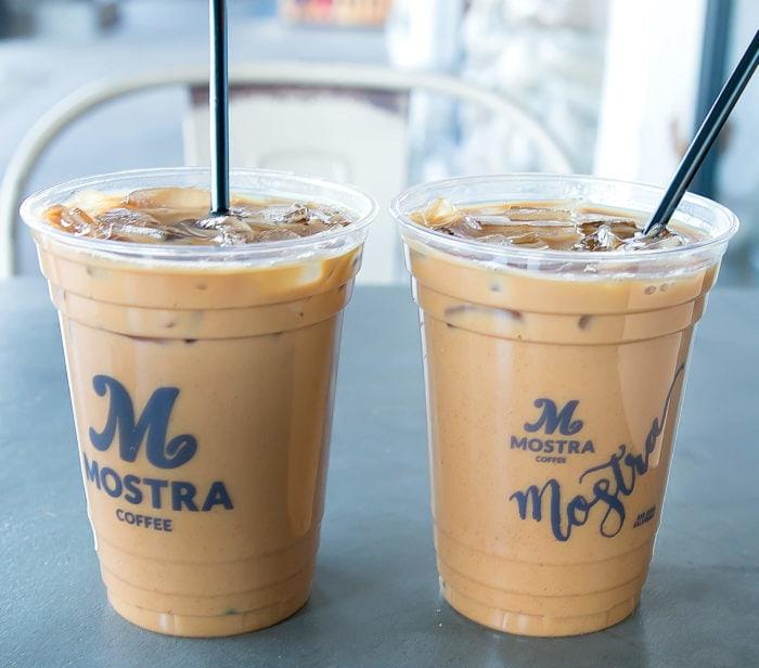 photo of two Choconana coffee drinks